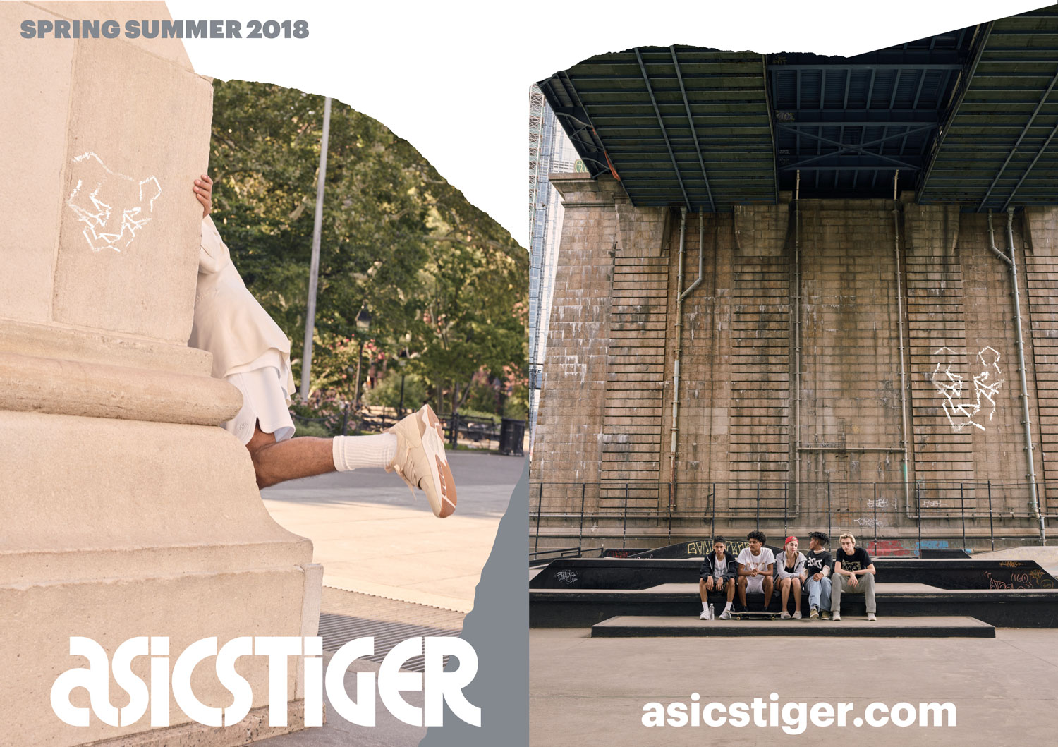 ASICS Tiger Lookbook design