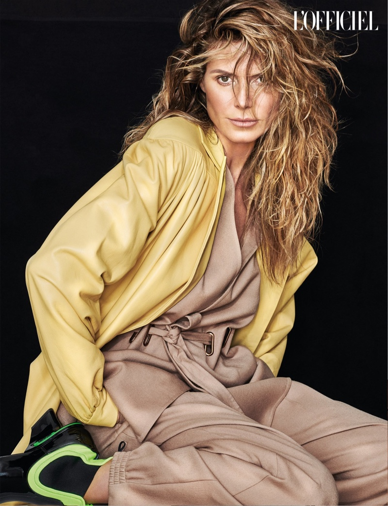 Heidi Klum L'Officiel Cover by Robert Erdmann inner page 2