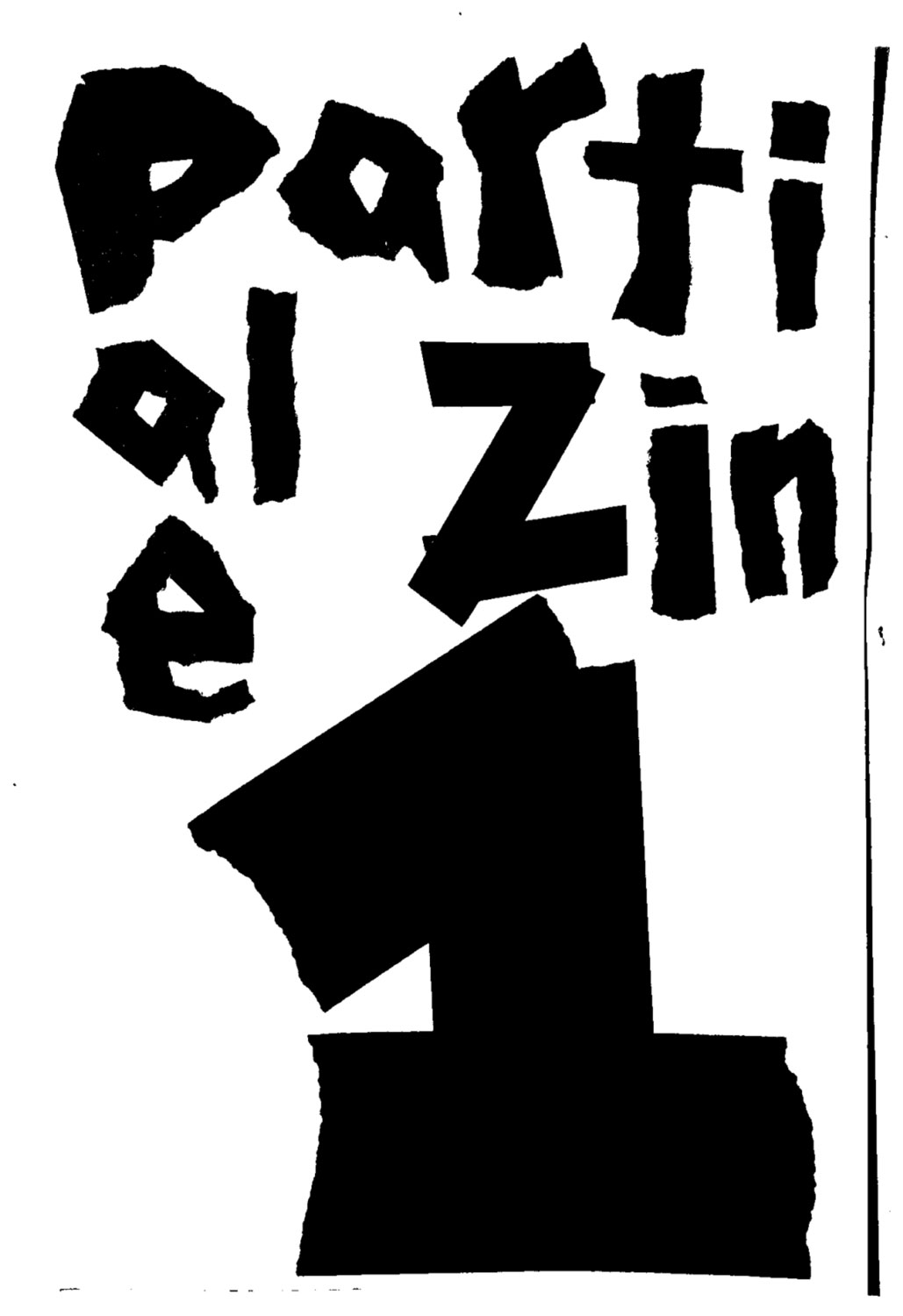 Partial Zine 1 Cover
